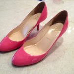 My pink Louboutins are wearing shiny, new glitter