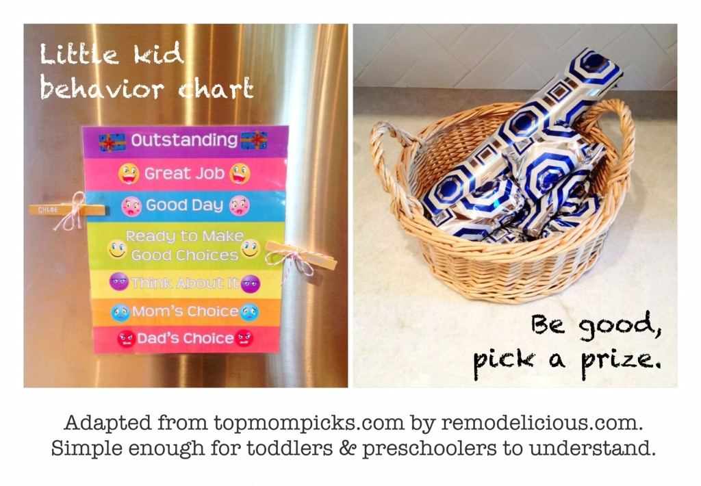behavior chart that little kids can understand – remodelicious