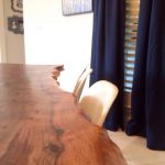 Operation Dining Room, Stage 2: The Re-do of Our DIY Live Edge Table