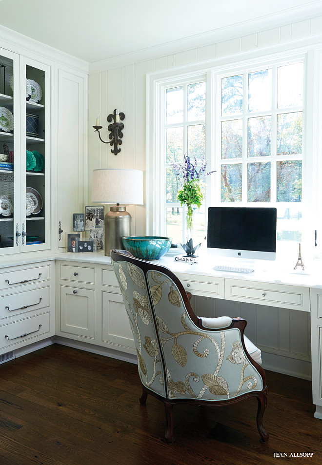 Glam work spaces that will make you want to get your work for Home office cabinet design ideas